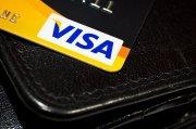 fragment karty kredytowej VISA