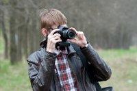 Mężczyzna fotografuje