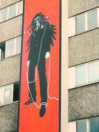 plakat na budynku