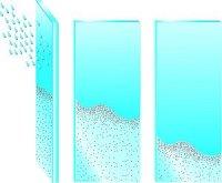 trzy tafle szkła